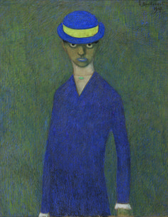 At the Salon du dessin 2015, Galerie Patrick Derom will offer 'The horsewoman', 1913, by Léon Spilliaert (1881 – 1946). In pastel and pencil on cardboard.