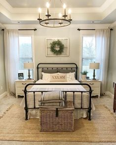 Best modern farmhouse bedroom design ideas (50)