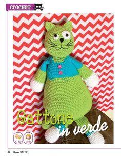 gattone verde a crochet