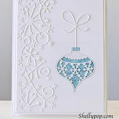 Memory Box Ornament Card