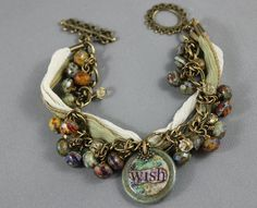 Wish Charm Bracelet as seen in Bead Trends Magazine by gettagift