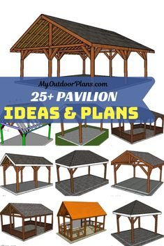 This is a collection of free pavilion designs and ideas, so you can build that shelter for you backyard where you can spend relaxing time. The free pavilion plans come with diagrams, instructions and Serpentine Pavilion, Pavilion Grey, Wooden Pavilion, Glass Pavilion, Backyard Pavilion, Outdoor Pavilion, Outdoor Gazebos, Backyard Gazebo, Backyard Patio Designs