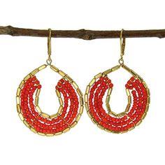 Girl Intuitive - Byzantine Earrings - Tangerine