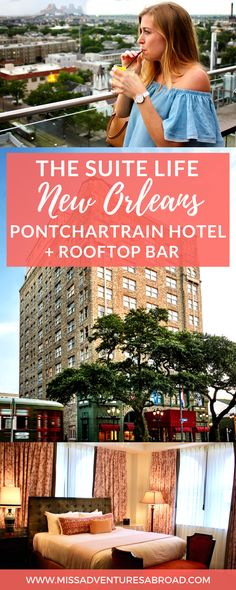 The Suite Life: Checking Into New Orleans' Historic Pontchartrain Hotel · History and luxury meet at the Pontchartrain Hotel, located in the beautiful Garden District of New Orleans. This hotel once hosted Frank Sinatra, Tennesse Williams, and other famous figures! Today, it is a perfect luxe location to stay in NOLA, and you won't want to miss the rooftop bar!