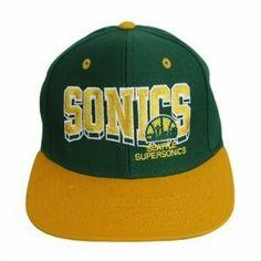 Seattle Sonics Snapback NBA Hat Cap - 2 Tone Green / Yellow by NBA. $18.99. Seattle Sonics Hat. 100% Cotton. Snapback. Hardwood Classic. Snapback Hat