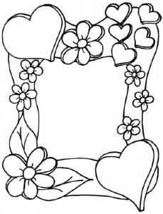 Moederdag Adult Coloring Pages Sheets Vader Heart Flower Colouring