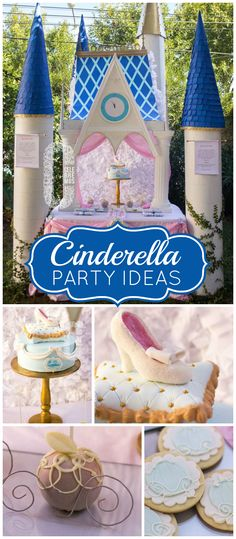A pretty Cinderella party for a two year old who loves princesses! See more party ideas at CatchMyParty.com!
