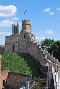 Lincoln Castle, Lincoln, England. Built in 1068, houses one of the four original…