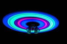 GLOW STICKS AND A CEILING FAN - The Top 100 'Pictures of the Day' for 2013 [http://twistedsifter.com/]. Photograph by jareyjareyjareyjarey on reddit.
