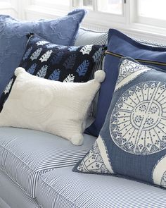 blue white ikat pillow 12x18 18x18 decorative pillow blue white rh pinterest com