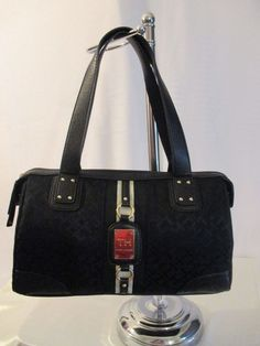 New Handbag Tommy Hilfiger Purse Satchel Color  Black Style 6914966 990 #TommyHilfiger #Satchel