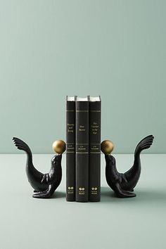 Anthropologie Seal Bookends