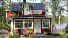 Wellington, ON Real Estate - Homes For Sale in Wellington, Ontario Swedish Style, Swedish House, Scandinavian Interior, Scandinavian Style, Cabins And Cottages, Log Cabins, Cozy Cabin, Estate Homes, My Dream Home