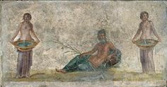 Fragment of Wall-Painting Circa AD 70-79 Pompeii (Italy), House of the Vestals