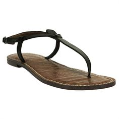 Sam Edelman Gigi T-Strap Flat Sandal #VonMaur. I for serious need apair of shoes like this.  Put it on my summer list!