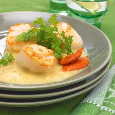 Jakobsmuscheln mit Buttersauce - List of the best food recipes Low Carb Shrimp Recipes, Creamy Pasta Recipes, Shrimp Recipes For Dinner, Fish Recipes, Seafood Recipes, Easy Shrimp And Grits, Garlic Butter Shrimp Pasta, Healthy Shrimp Tacos, Clean Eating Shrimp