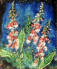 "60s Keramik Wandplatte ""7395"" W. Meschede Karlsruher Majolika ceramic wall tile"