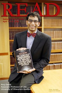 "2008 READ poster featuring Professor Anuj Desai reading ""On Formally Undecidable Propositions of Principia Mathematica and Related Systems"" by Kurt Godel."