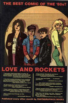 Love and Rockets(Fantagraphics - 1985) Illustrator:Jaime Hernandez