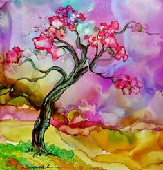 How to Paint with Alcohol Inks, by Wendy Videlock: October 2013