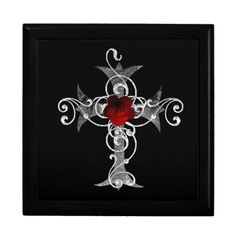 Gothic Rose Cross Fantasy Gift Box by Gothic Toggs