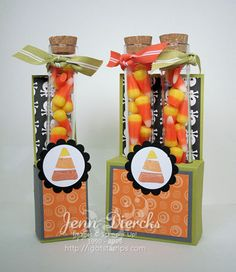 Candy Corn Test Tube Treats!
