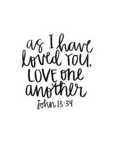 Love One Another Bible Verse Vinyl Car Decal Bumper Window