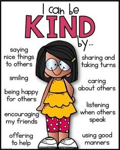 (FREE) Classroom Character Expectations - Being KIND Poster
