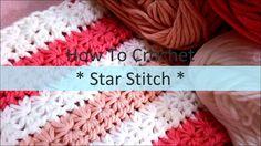 スタークロッシェの編み方(Star Crochet)  / How To Crochet * Star Stitch * design A