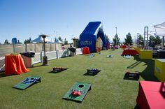 Branded Cornhole Boards  Event and Teambuilding