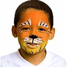 Cat Simple Lion Face Paint Design Wwwpicturessocom