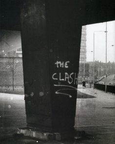 """theunderestimator-2: """" The iconic """"The Clash"""" graffitti, spray painted in 1976 on one of the concrete pillars underneath the Westway elevated motorway, a fitting symbolism for a band that has always..."""