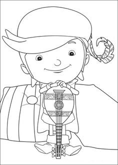 Desenhos para pintar Mike o Cavaleiro 14