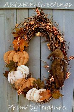 Autumn Fall Pumpkin Wreath