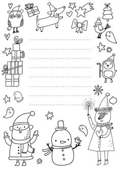 Paper Christmas Decorations, Christmas Art Projects, Christmas Crafts For Kids, Christmas Activities, Activities For Kids, Christmas Coloring Pages, Coloring Book Pages, Christmas Makes, Christmas Colors