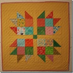 Tutorial for Oversized bear paw quilt for baby, charm friendly. This is the tutorial I used to make Greg his first quilt.