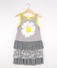 Love this Freckles + Kitty Heather Gray Daisy Ruffle Dress - Girls by Freckles + Kitty on #zulily! #zulilyfinds