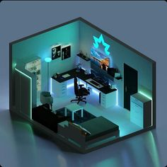 Insane room made by 👌🏻🔥rooms are made w - Rooms media photos videos Gamer Bedroom, Bedroom Setup, Room Ideas Bedroom, Computer Gaming Room, Gaming Room Setup, Best Gaming Setup, Gaming Rooms, Small Game Rooms, Video Game Rooms