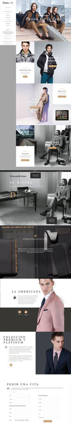 Zegna.com. #grid #e-commerce #webdesign