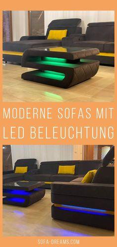 Das Luxus Designer Sofa Bologna von der Marke Sofa-Dreams besticht durch sein modernes Design, die stilvolle LED Beleuchtung und den Komfort. Das Leder Sofa ist in verschiedenen Farben und Ausführungen erhältlich. Passend zu dem modernen Ledersofa ist auch ein Designer Couchtisch bestellbar.