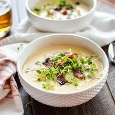 Potato Cheddar Beer Soup