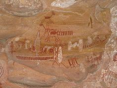 Cave paintings of Serra da Capivara, Brasil                                                                                                                                                      Mais