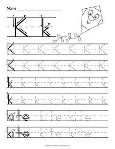 Letter K Tracing Worksheets Preschool. √ Letter K Tracing Worksheets Preschool. Printable Letter K Tracing Worksheet with Number and Arrow Handwriting Worksheets For Kids, Printable Alphabet Worksheets, Letter Worksheets For Preschool, Writing Practice Worksheets, Preschool Letters, Kindergarten Worksheets, Free Printable, Fall Preschool, Handwriting Practice