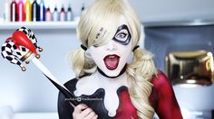 THE COSTUME IS ALL BODY PAINT! Easy Harley Quinn body paint for beginners who want to expand on their bodies! Don't worry, it washes off :)