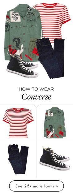 """Untitled #138"" by pessky on Polyvore featuring Miss Selfridge, MadeWorn, Yves Saint Laurent, Converse and airportstyle"