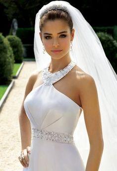 Vestido de casamento com pedras