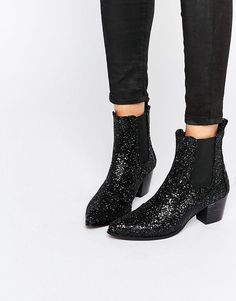 Image 1 of KG By Kurt Geiger Razzle Glitter Heeled Ankle Boots