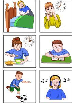 Página 1 de 5 Alphabet Activities, Preschool Activities, Teaching English, Learn English, Action Verbs, Teaching Materials, Speech Therapy, Time Management, Kids Learning