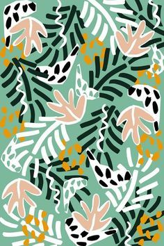 Pattern from 'Birds in the Jungle' collection by Dora Szentmihalyi