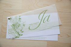 Einladungskarte Hochzeit Einladung Danksagung von Designisch auf DaWanda.com